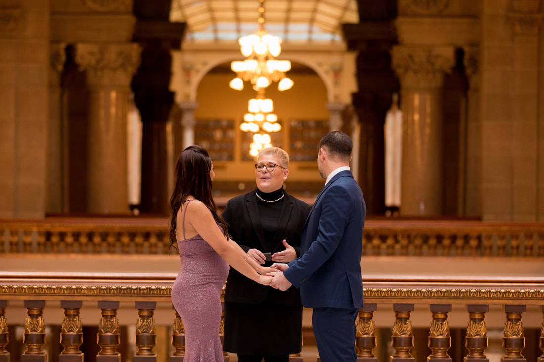Elope In Indiana.  The Indiana State House.  Marry Me In Indy! LLC Indianapolis Wedding Officiant Services