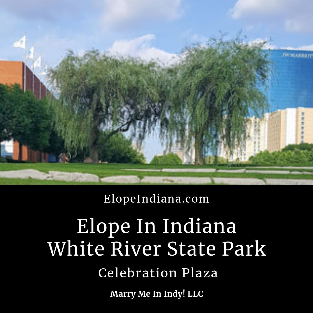 Elope In Indy At White River State Park Celebration Plaza