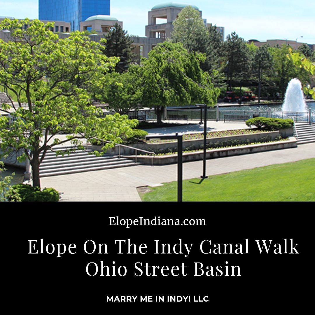 Elope on the Indy Canal Walk Ohio Street Basin