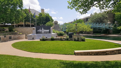 Elope In Indiana - USS Indianapolis Memorial - Indy Canal Walk. Elope Indiana.  Marry Me In Indy! LLC